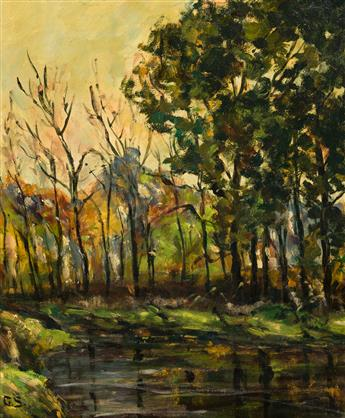 GEORGE GARDNER SYMONS Landscape with a Pond.