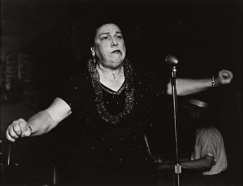 WEEGEE [ARTHUR FELLIG] (1899-1968) Bowery Singer.