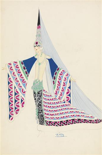 ZIG-(LOUIS-GAUDIN)-(COSTUME--PARIS--FOLLIES)-Egyptian-Royalty