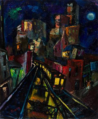 ABRAM TROMKA (1896-1954) Third Avenue El.