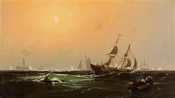 EDWARD MORAN Ship in a State of Distress: An Allegory of the Civil War.