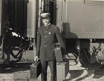 (RAILROAD--HOLLYWOOD) A narrative album by the Text Film Corp. entitled A Journey by Train: Subject 101, containing 60 professional pho