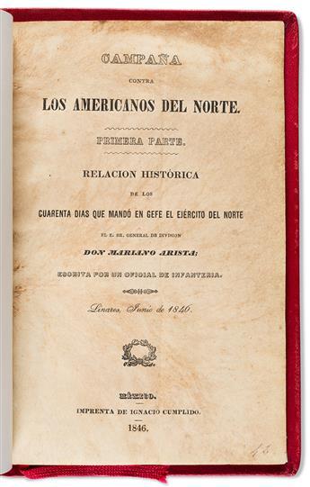 (MEXICO.) Campaña contra los Americanos del norte,