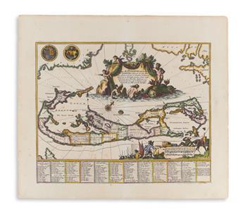 (BERMUDA.) Ogilby, John. Mappa Aestivarum Insularu