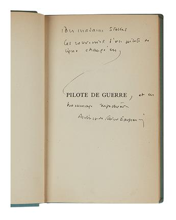 SAINT-EXUPÉRY, ANTOINE DE. Group of 4 books, each Signed and Inscribed, to Madame Stokes, in French.