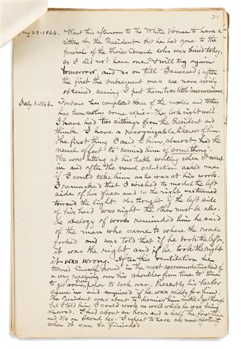(ABRAHAM LINCOLN.) Reminiscences and family papers of Lincoln sculptor William Marshall Swayne.