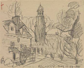 OSCAR-BLUEMNER-Three-pencil-landscape-drawings