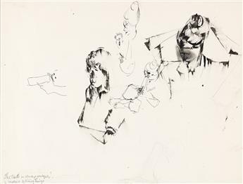NORMAN LEWIS (1917 - 1979) Untitled (Sheet of Studies).