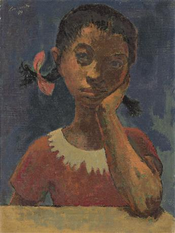 HUGHIE LEE-SMITH (1915 - 1999) Untitled (Portrait of a Young Girl).