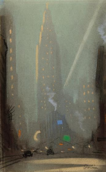 LEON-DOLICE-Two-views-of-the-Chrysler-Building-New-York