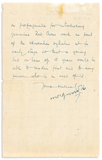 GANDHI, MOHANDAS K. Letter Signed, MKGandhi, to Edmund Elmar Mack (Dear Mr. Mack), in English,