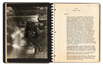 """ARTHUR ARENT (1904-1972). Complete working script and production notes for the Federal Theatre Project's """"One-Third of a Nation."""""""