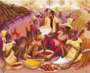 HAITIAN ARTISTS Two paintings.