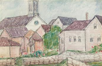 ABRAHAM WALKOWITZ Church and Village, Cape Cod.