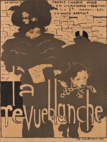 PIERRE BONNARD (1867-1947).  LA REVUE BLANCHE. 1894. 34¼x21 inches, 79¼x61 cm. Edw. Ancourt, Paris.