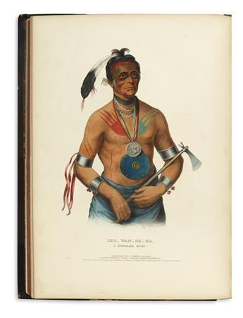 (AMERICAN-INDIANS)-McKenney-Thomas-L;-and-Hall-James-History