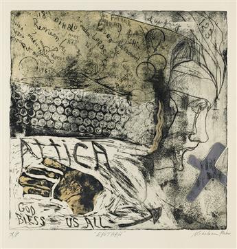 AMERICAN PRINTMAKERS Two etchings.