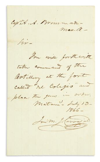 (CIVIL-WAR--CONFEDERATE)-Pair-of-documents-of-an-exiled-Confederate-artilleryman-serving-in-the-Mexican-army