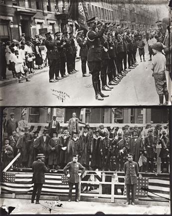 JAMES VANDERZEE (1886 - 1983) Marcus Garvey and Garvey Militia, Harlem.