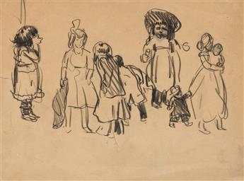 GEORGE LUKS Studies of Children.