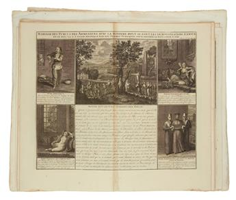 CHATELAIN, HENRI. Group of 28 double-page or foldi