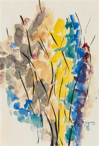 ALMA W. THOMAS (1891 - 1978) Untitled (Yellow and Brown Composition).