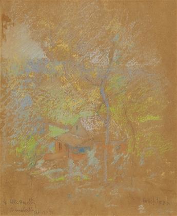 JOHN-HENRY-TWACHTMAN-Julian-Alden-Weirs-Cottage-Branchville-