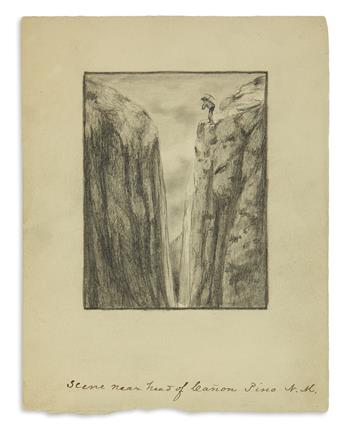 (WEST.) Porter, William Sydney, a.k.a. O. Henry. Drawings made to illustrate a lost mining memoir, long before his fame as an author.