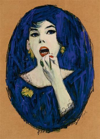 JAMES NEIL BOYLE. Lipstick / Woman in Blue.