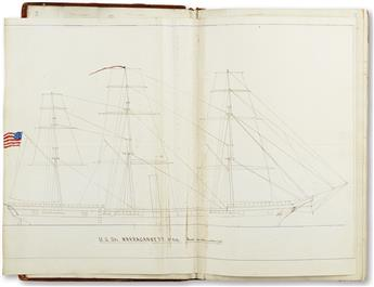 (NAVY.) Calhoun, George A. Illustrated log of the USS Narragansetts Pacific cruise.