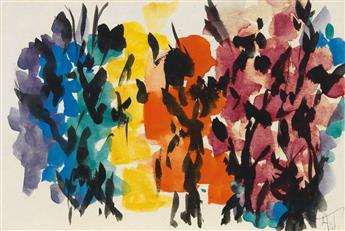 ALMA W. THOMAS (1891 - 1978) Untitled (Orange and Burgundy Composition).