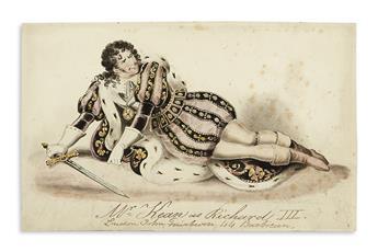 (JUVENILE DRAMA.) Cruikshank, Robert. Portfolio of fine original watercolor drawings.