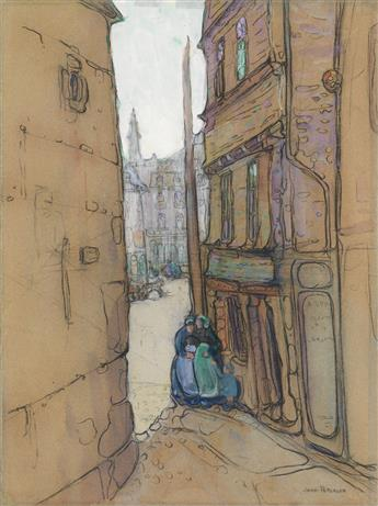 JANE PETERSON Street Corner, Europe.
