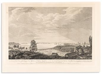 (COLONIAL ERA.) Pierre Canot, engraver; after Thomas Howdell. A South West View of the City of New York, in North America.