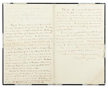 TWAIN, MARK. Autograph Letter Signed, S.L. Clemens, to Francis Henry Bennett Skrine (Dear Skrine),