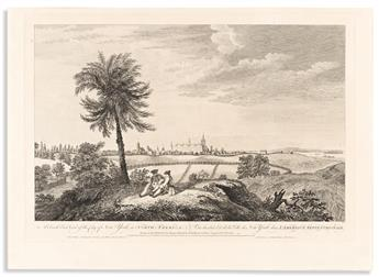 (COLONIAL ERA.) Pierre Canot, engraver; after Thomas Howdell. A South East View of the City of New York.
