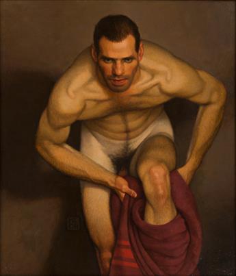 MICHAEL LEONARD (1933 - ) Bather with Intent.