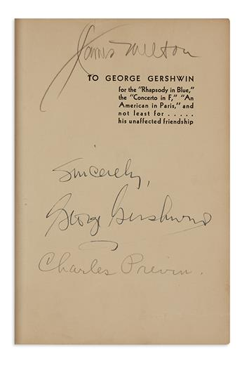 GERSHWIN, GEORGE. Isaac Goldberg. Tin Pan Alley. Signed and Inscribed, Sincerely, on the dedication page.