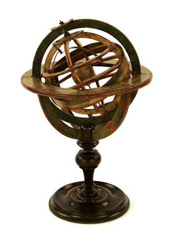 (GLOBES -- ARMILLARY SPHERE.) S. Fortin. [18th-cen