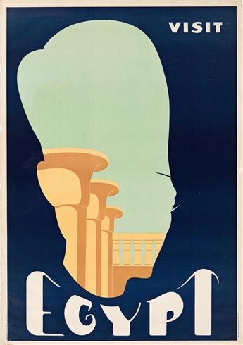 Designer Unknown.  VISIT EGYPT. Circa 1940s.
