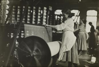 LEWIS W. HINE (1874-1940) A trio of images depicting young cotton mill spinners.