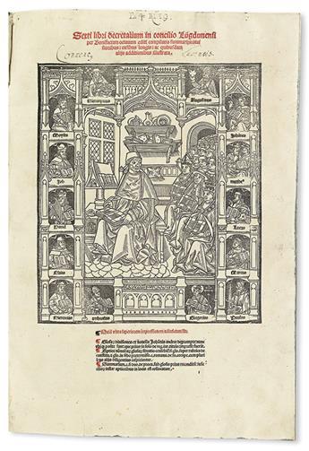 BONIFACE VIII, Pope. Sexti libri decretalium. Bound with 3 other canon law works.  1508