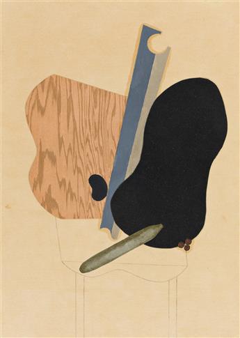 ALBERT EUGENE GALLATIN (1881-1952) Collage No. 15.