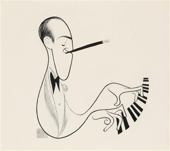 AL HIRSCHFELD. George Gershwin.  [CARICATURE / MUS