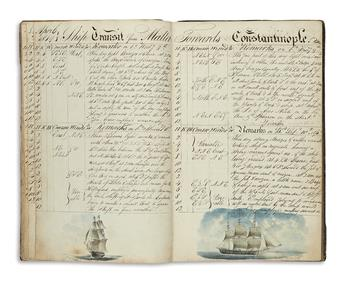 (DRAWINGS--SHIPS-LOG)-Hodgson-William-Journal-of-a-Voyage-fr