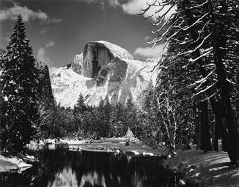 ANSEL-ADAMS-(1902-1984)-Half-Dome-Merced-River-Winter--Siest