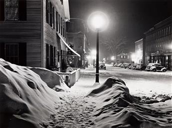 MARION POST WOLCOTT (1910-1990) Center of town, Woodstock, VT, after blizzard.