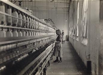 LEWIS W. HINE (1874-1940) One of many youngsters working in Carolina cotton mills.