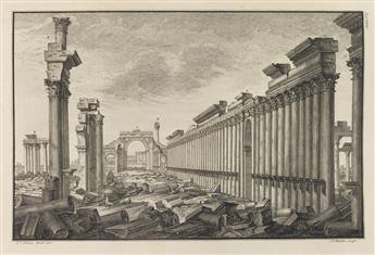 (ARCHITECTURE)-Wood-Robert-and-James-Dawkins-Les-Ruines-de-Palmyre-autrement-dite-Tedmor-au-Désert