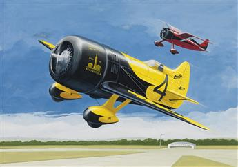 (ADVERTISING--AMERICAN-ARTIST--AIRCRAFT)-Gee-Bee-Model-Z-Sup